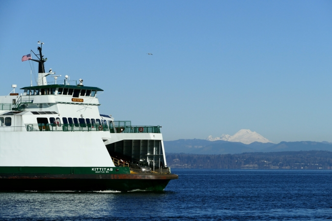 mukilteo ferry and mount baker