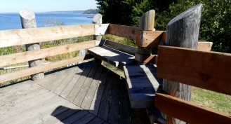 Benches on view deck.