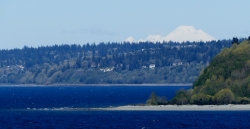 Mt. Baker visible on clear days.