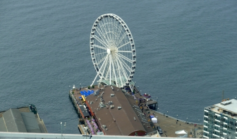 great wheel seen from sky view observatory in seattle
