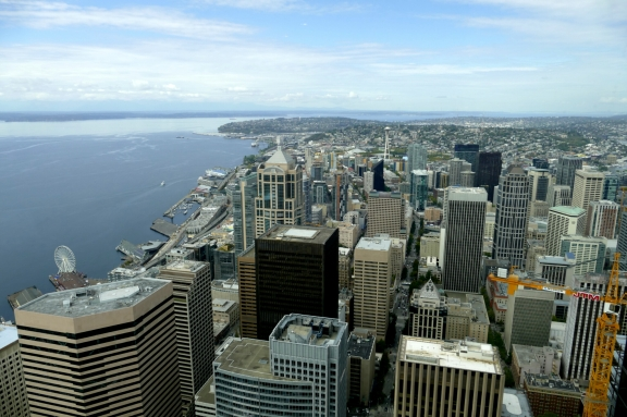 view from columbia center in seattle