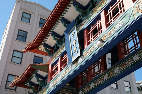 chinese gate in chinatown seattle